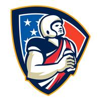 American Football Quarterback Shield