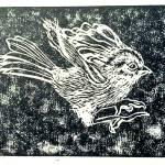 """landing sparrow"" by somacelestial"