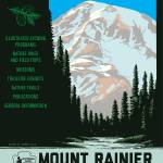 """Mt. Rainer Travel Art Print"" by redssr03"