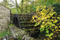 Old Mill and Water Wheel, Miller's Dale (35011-RDA