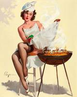 Barbecue Pin-Up Girl
