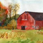 """Autumn Barn"" by schulmanart"