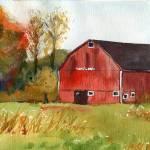 """Autumn Barn"" by schulmanart"