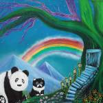"""The Panda The Cat and The Rainbow"" by ArtPrints"