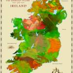 """Watercolor Map of Ireland"" by redssr03"