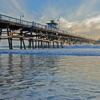 San Clemente Pier Art Prints & Posters by Jean Booth