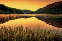 Sunset over Scottish Loch