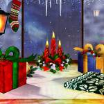 """""""Yuletime Reflections Christmas Art"""" by ReneeLozenGraphics"""