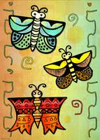Zuni POSTERS Butterly Folk Art