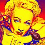 """Marlene Dietrich"" by ArtCinemaGallery"