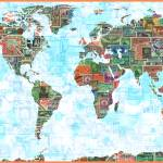 """""""World Map of Stamps"""" by redssr03"""