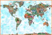 World Map of Stamps