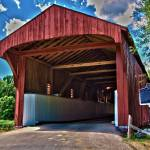 """Montrose Covered Bridge"" by PeterEbyPhotography"