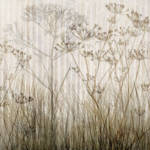 """Wildflowers Silhouette Ivory"" by CoraNiele"