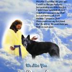 """Jesus and Black German Shepherd copy"" by heavenlyimages"