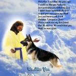"""""""Jesus and German Shepherd copy"""" by heavenlyimages"""