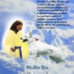 """""""Jesus and White German Shepherd copy"""" by heavenlyimages"""