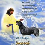 """Jesus and Labrador stretched canvas"" by heavenlyimages"