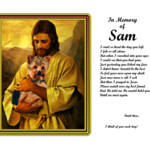 """""""stretched Master Jesuswith yorkie Verse copy"""" by heavenlyimages"""