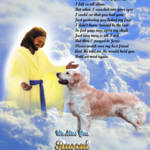 """""""stretched-Jesus and Golden Retriever copy"""" by heavenlyimages"""