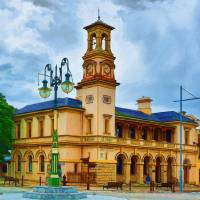 Beechworth Post Office Art Prints & Posters by Stuart Row