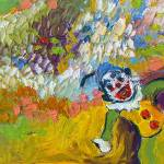 """Clown Palette Knife Oil Painting"" by GinetteCallaway"