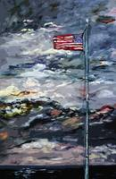 Stars and Stripes Stormy Skies Modern Art