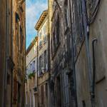 """Narrow Street in Viviers"" by awsheffield"