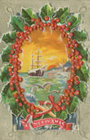Vintage Christmas Sailboat