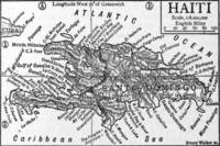 Vintage Map of Haiti (1911)