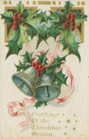 Nostalgic Christmas Bells and Holly