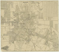 Vintage Map of Downtown Houston (1913)