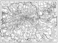 Vintage Map of London England (1911)