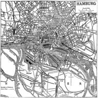 Vintage Map of Hamburg Germany (1911)