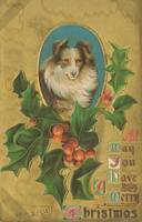 Vintage Christmas Collie