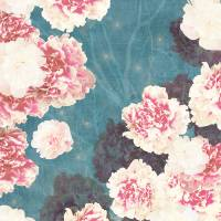 """Night Peonies Blue"" by cozamia"
