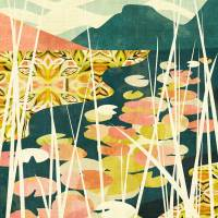 """Water Lilies"" by Cozamia Art"