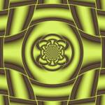 """Abstract Gold Fractal Decoration"" by lotus_flower"
