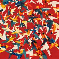 """Color Migration on Red"" by Cozamia Art"