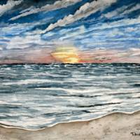 Sunset on the Beach Art Prints & Posters by Derek McCrea