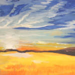 """""""Prairie Sunset"""" by PERRYS-CLASSIC-ART"""