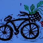 """abstract bike with flowers"" by songsforseba"