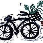 """abstract bicycle with flowers"" by songsforseba"