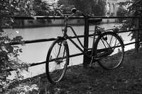 Bicycle by the Isar river