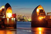 Thames Barrier & Canary Wharf