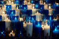 Blue and White Prayer Candles DSC_0298