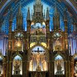 """The Altar area of Notre Dame Basilica in Montreal"" by AndreHugosPlace"