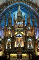 The Altar area of Notre Dame Basilica in Montreal