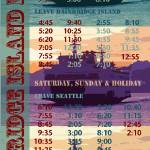 """Bainbridge Island Ferry Schedule"" by griffinart"