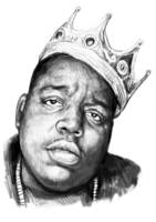Biggie Smalls art drawing sketch portrait